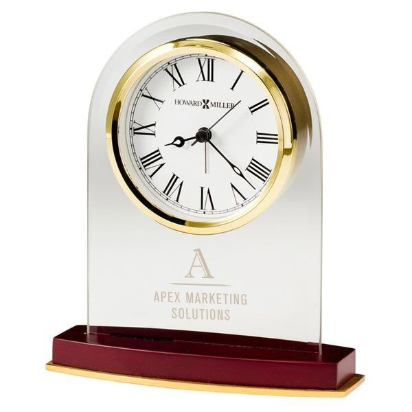 Howard Miller® Anson Beveled Glass Clock