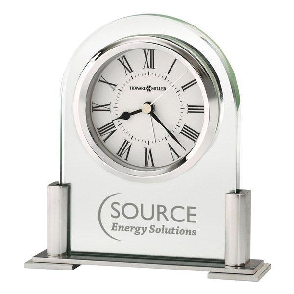 Howard Miller® Brinell Glass Tabletop Clock