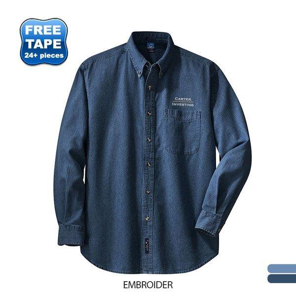 Port & Company® Value Denim Men's Shirt