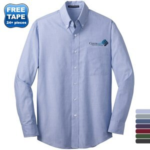 Port Authority® Crosshatch Easy Care Poplin Men's Shirt