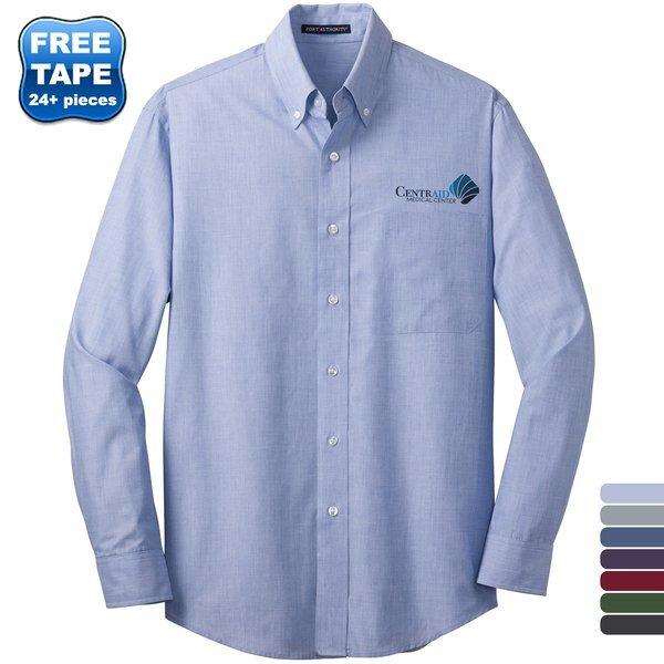 Port Authority® Crosshatch Easy Care Poplin Men's Shirt