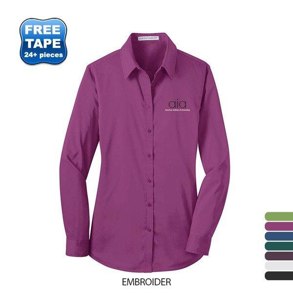 Port Authority® Stretch Poplin Ladies' Shirt