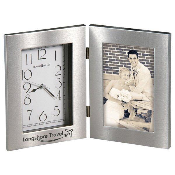 Howard Miller® Lewiston Hinged Frame Clock Combination