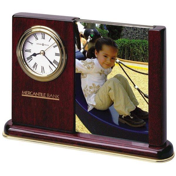 Howard Miller® Rosewood Portrait Caddy Frame & Clock Combination