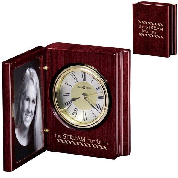 Howard Miller® Rosewood Portrait Book Frame Clock Combination
