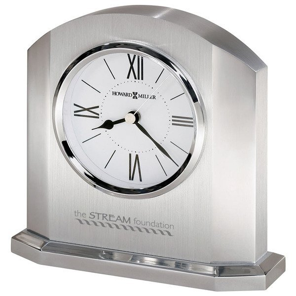 Howard Miller® Lincoln Silver-Finished Clock