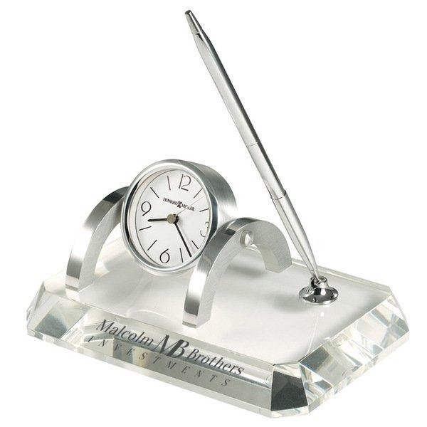 Howard Miller® Prominence Crystal Clock Desk Set