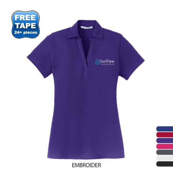 Port Authority® Silk Touch™ Pique Ladies' Y-Neck Polo