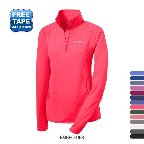 Sport-Tek® Sport-Wick® Stretch Ladies' Half Zip