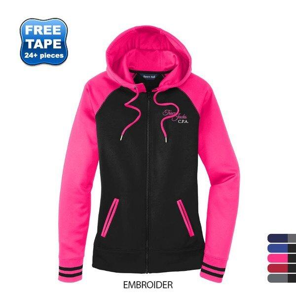 Sport-Tek® Sport-Wick® Varsity Fleece Ladies' Full-Zip Hoodie