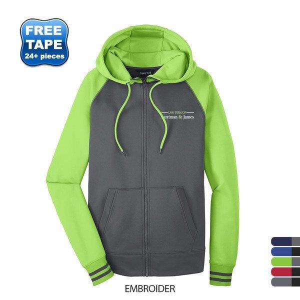 Sport-Tek® Sport-Wick® Varsity Fleece Men's Full-Zip Hoodie