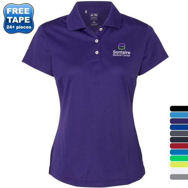 adidas® Golf ClimaLite® Basic Performance Pique Ladies' Polo