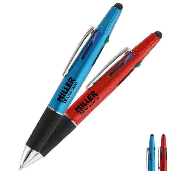 Cruise 4-Color Stylus Ballpoint Pen