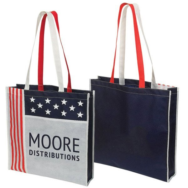 Patriotic USA Non Woven Tote Bag