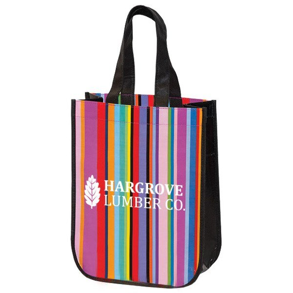 Mini Multi-Stripe Recycled Tote & Gift Bag