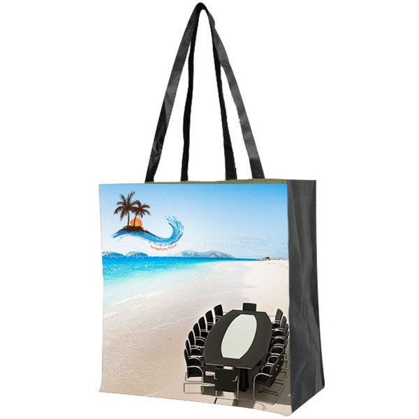 Sublimated Non-Woven Gusseted Tote, Two-Sided