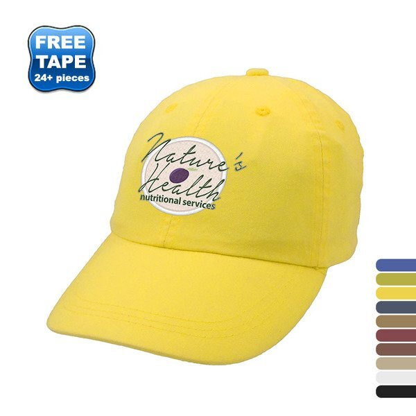 Pigment Dye Washed Cotton Unconstructed Cap