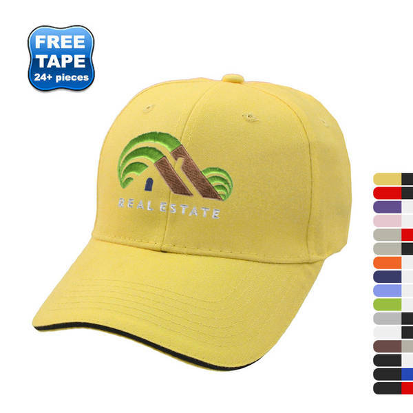 Brushed Cotton Twill Constructed Sandwich Cap