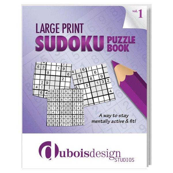 Large Print Sudoku Puzzle Book - Vol. 1
