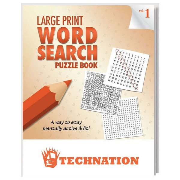 Large Print Word Search Puzzle Book - Vol. 1