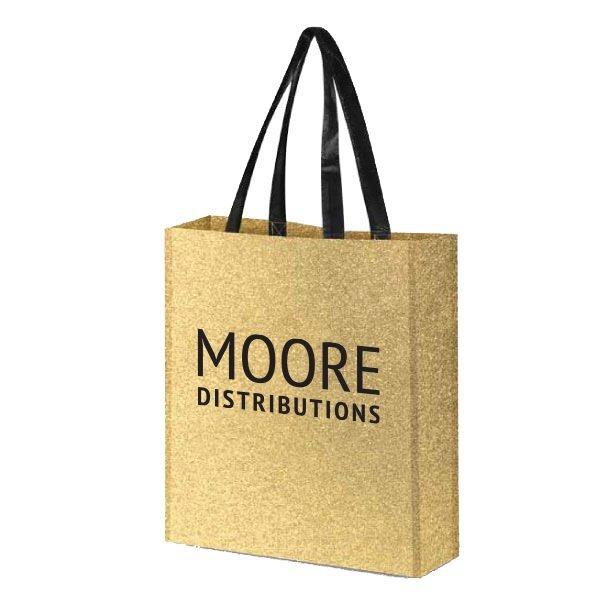 Glitter Reusable Non-Woven Tote Bag