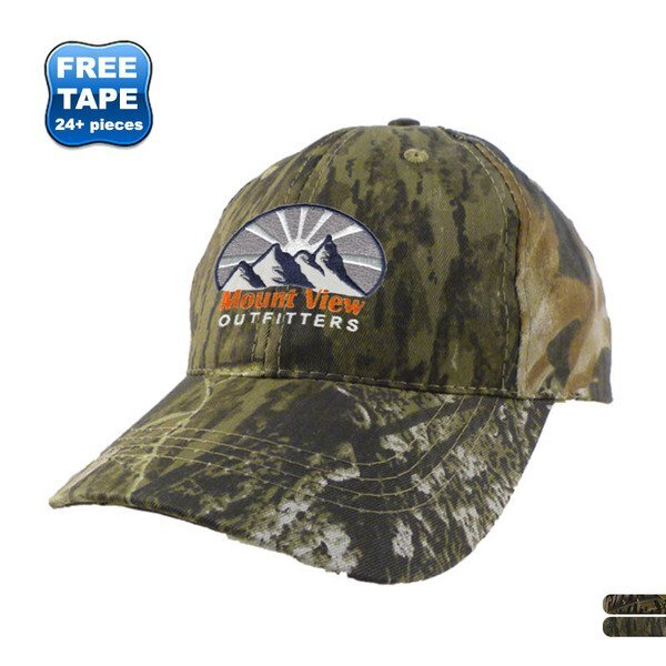 Camouflage Cotton Twill Constructed Cap