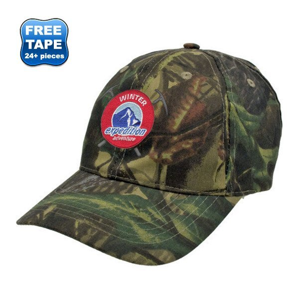Forest Camouflage Cotton Twill Unconstructed Cap