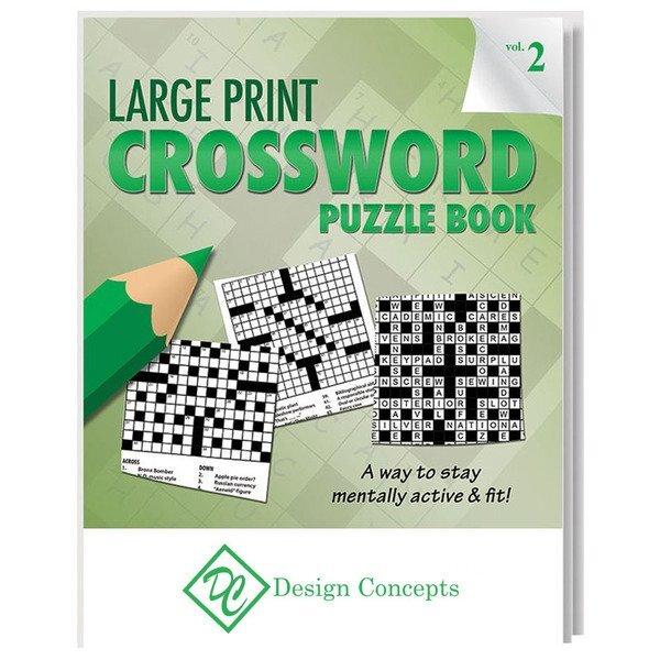 Large Print Crossword Puzzle Book - Vol. 2