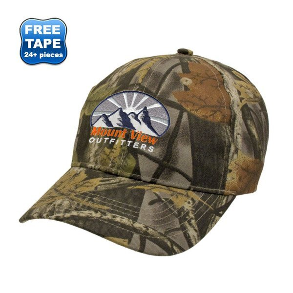 Nature Camouflage Cotton Twill Unconstructed Cap
