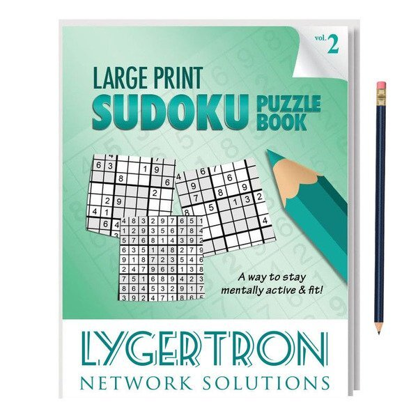 Large Print Sudoku Puzzle Book with Pencil - Vol. 2