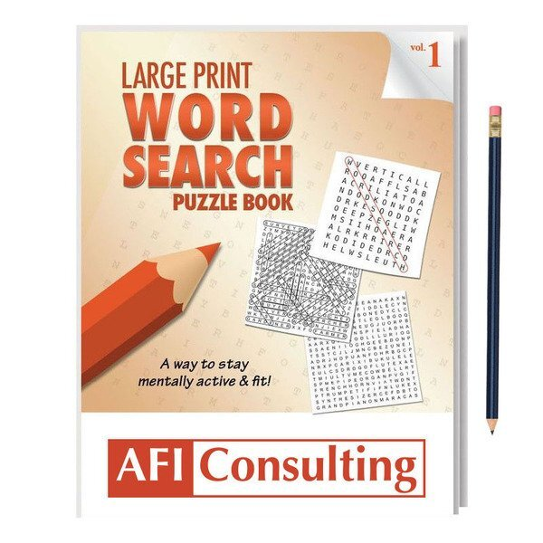 Large Print Word Search Puzzle Book with Pencil - Vol. 1