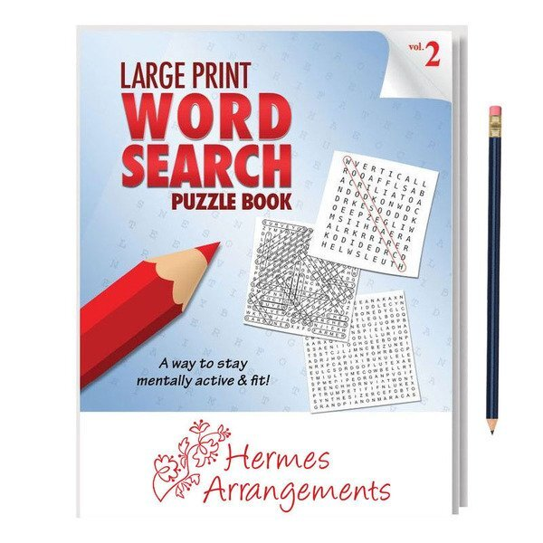 Large Print Word Search Puzzle Book with Pencil - Vol. 2