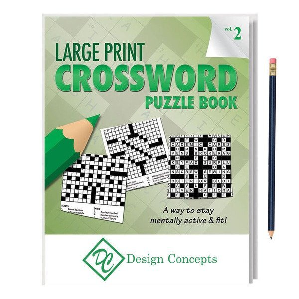 Large Print Crossword Puzzle Book  with Pencil - Vol. 2