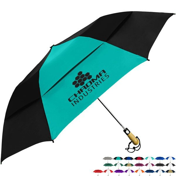 "Vented Little Giant Folding Golf Umbrella, 58"" arc"