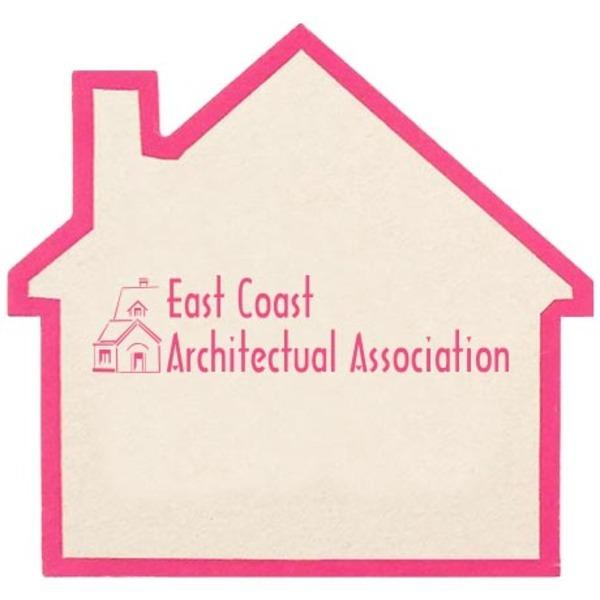 House Shaped High Density Board Coaster, 40 pt.