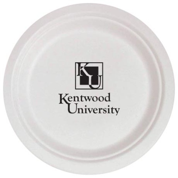 """Biodegradable Round Paper Plate, 7"""""""