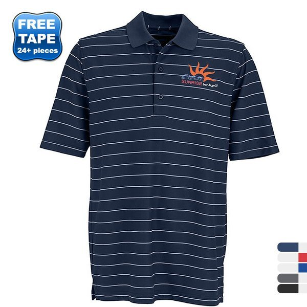 Greg Norman Play Dry® Performance Striped Mesh Men's Polo