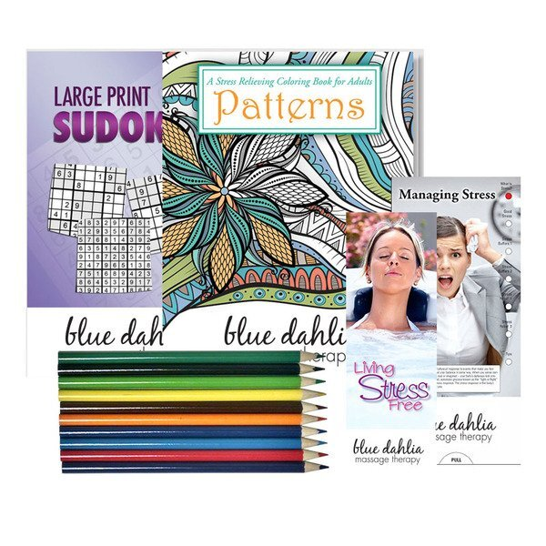 Stress Relief Deluxe Kit with Adult Coloring Book