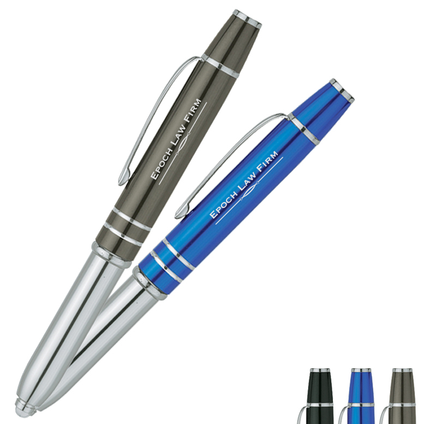 Precision Pen with LED Light & Stylus