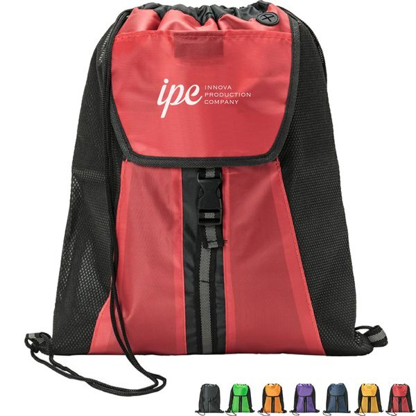Allure 210D Polyester Drawstring Backpack