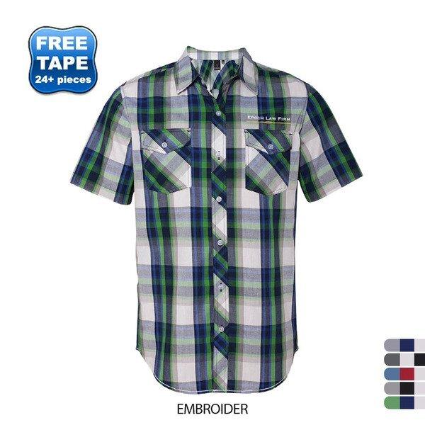 Burnside® Plaid Men's Short Sleeve Shirt
