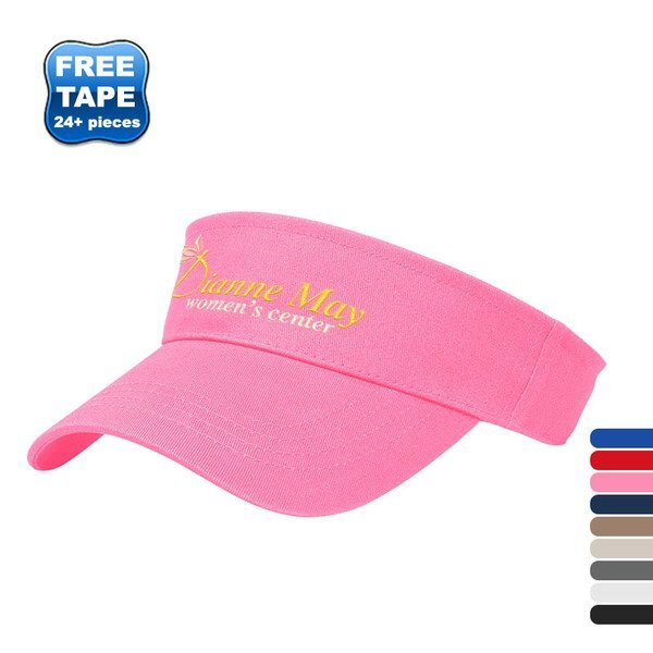 X-Tra Value Brushed Cotton Twill Tennis Visor