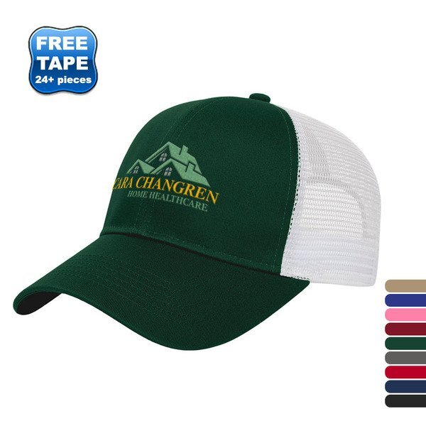 Value Two Tone Cotton Twill Constructed Cap with Mesh Back