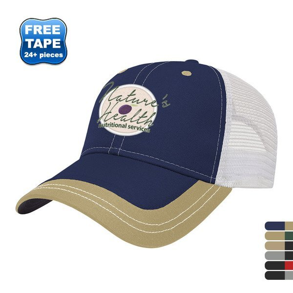 Value Two Tone Polyester Constructed Cap with Mesh Back