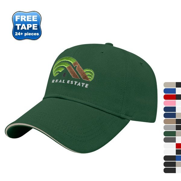 Value Brushed Cotton Twill Constructed Sandwich Cap