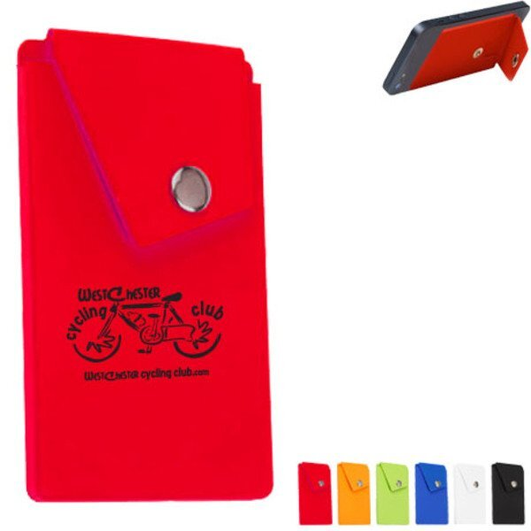Snap Pocket Silicone Smart Phone Wallet
