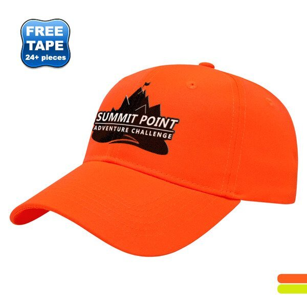 Fluorescent Polyester Twill Constructed Safety Cap