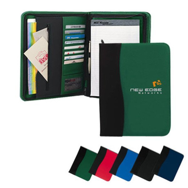 SIgN Wave Zippered Padfolio