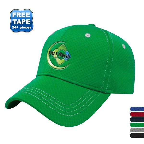 Soft Textured Polyester Mesh Constructed Performance Cap