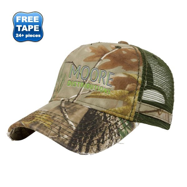 Trendy Heavy Washed Realtree® Camo Unconstructed Cap with Mesh Back